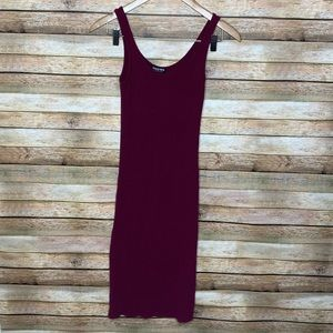Fashion Nova| Midi Dress| Maroon| Small